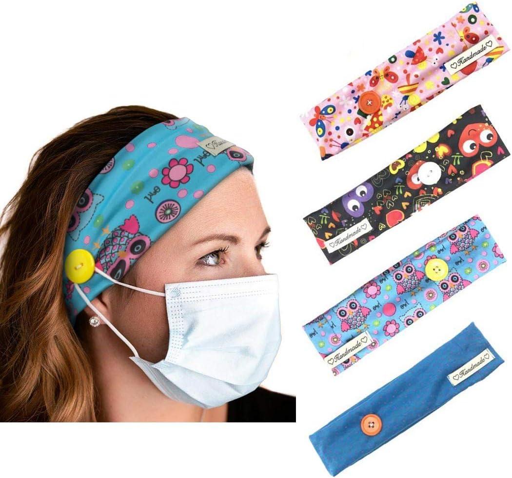 Yean - Bandas elásticas para el pelo para correr, para hombres y mujeres, 4 unidades, color negro