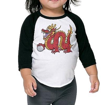 SH-rong Chinese Dragon Kids Baseball T-shirt