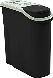 Rotho Filo Pet Food Container 6 L Plastic (PP) Anthracite with PET Feed with Joy Motif 6 litres (28 x 12 x 28 cm)
