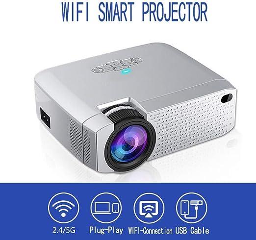 ZDZHU Mini proyector portátil WiFi, proyector de Video inalámbrico ...