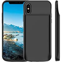 Vproof 6000mAh iPhone X Battery Case, Portable Charger Rechargeable Charging Case External Battery Protective Cover for Apple iPhone X, iPhone 10 (5.8 Inch) (Black)