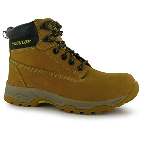 c701bc5bbc0 Dunlop Mens Safety On Site Boots Lace Up Mesh Oil and Slip Resistant Shoes