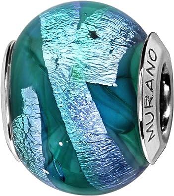 charm pandora bleu vert