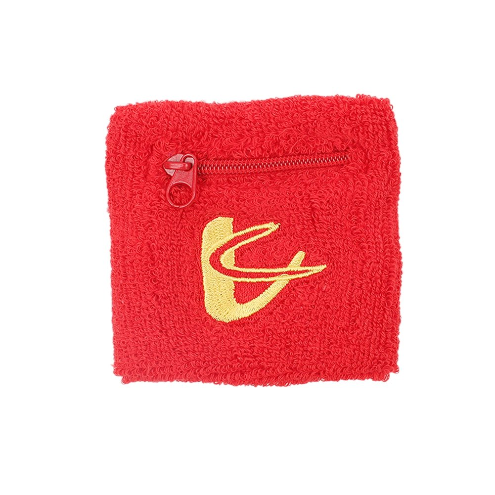 Rowentauk Sports Wristband Sweatband - Provide Firm Support for Weak Wrist, Wrist Sprains and Strains - for Basketball Badminton Tennis Fitness All Sports With Zipper Coin Purse