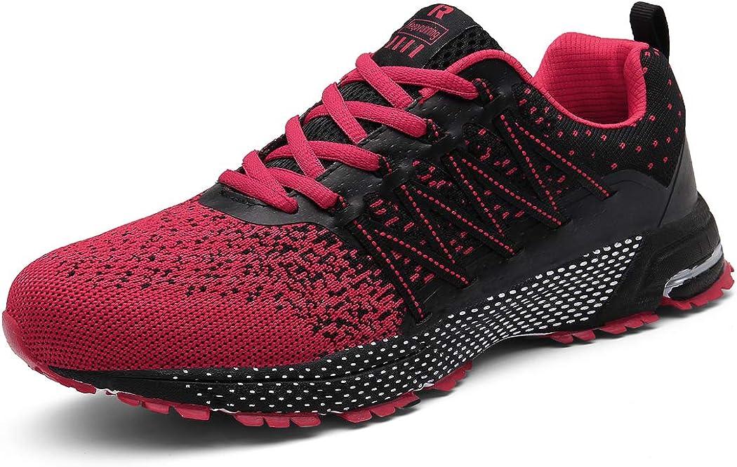 SOLLOMENSI Zapatillas de Deporte Hombres Running Zapatos para Correr Gimnasio Sneakers Deportivas Padel Transpirables Casual Montaña