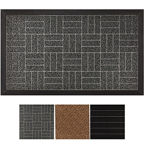 Gray Welcome Mats - GRIP MASTER Durable, Tough All-Natural Rubber Indoor Outdoor Door Mat, Extra Large (29