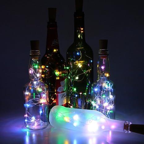 Juego de 6 para botella de vino corcho luces – 78 cm/2 m 20