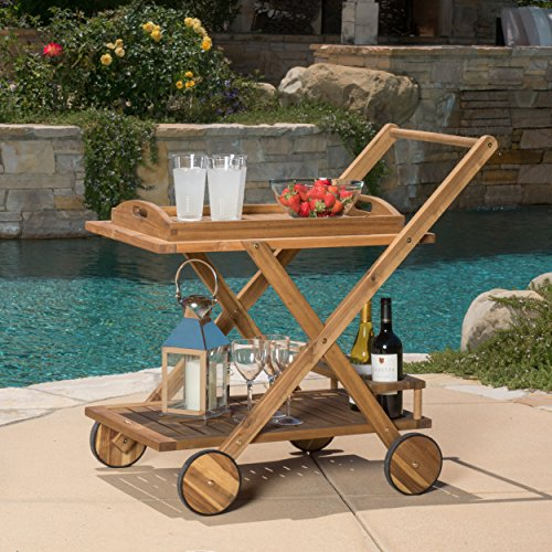 Beachcrest Home Deer Island Serving Cart, Bar Serving Cart, Distressed by Beachcrest Home (Image #7)