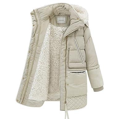 37c96dd575326 BOMOVO Mujeres Abrigo con Capucha Chaquetas de Capa Chamarra para Otoño  Invierno Coat Jacket  Amazon.es  Ropa y accesorios