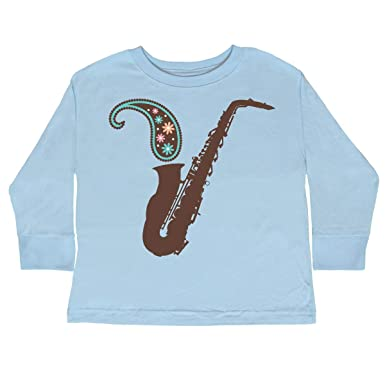 7e94b531 Amazon.com: inktastic - Saxophone Paisley Sax Player Gift Toddler Long  Sleeve T-Shirt fb2e: Clothing