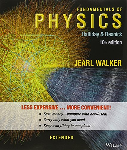 Fundamentals of Physics Extended, 10th Edition Binder Ready Version with WebAssign 1 Semester and 2 Semester Set