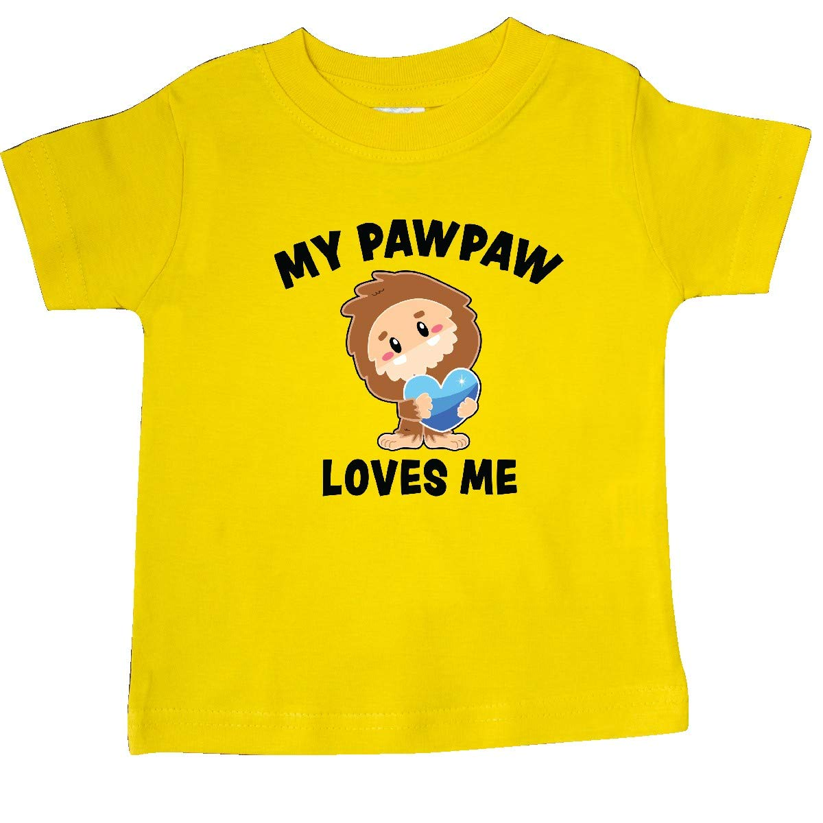inktastic Cute Bigfoot My Pawpaw Loves Me Baby T-Shirt