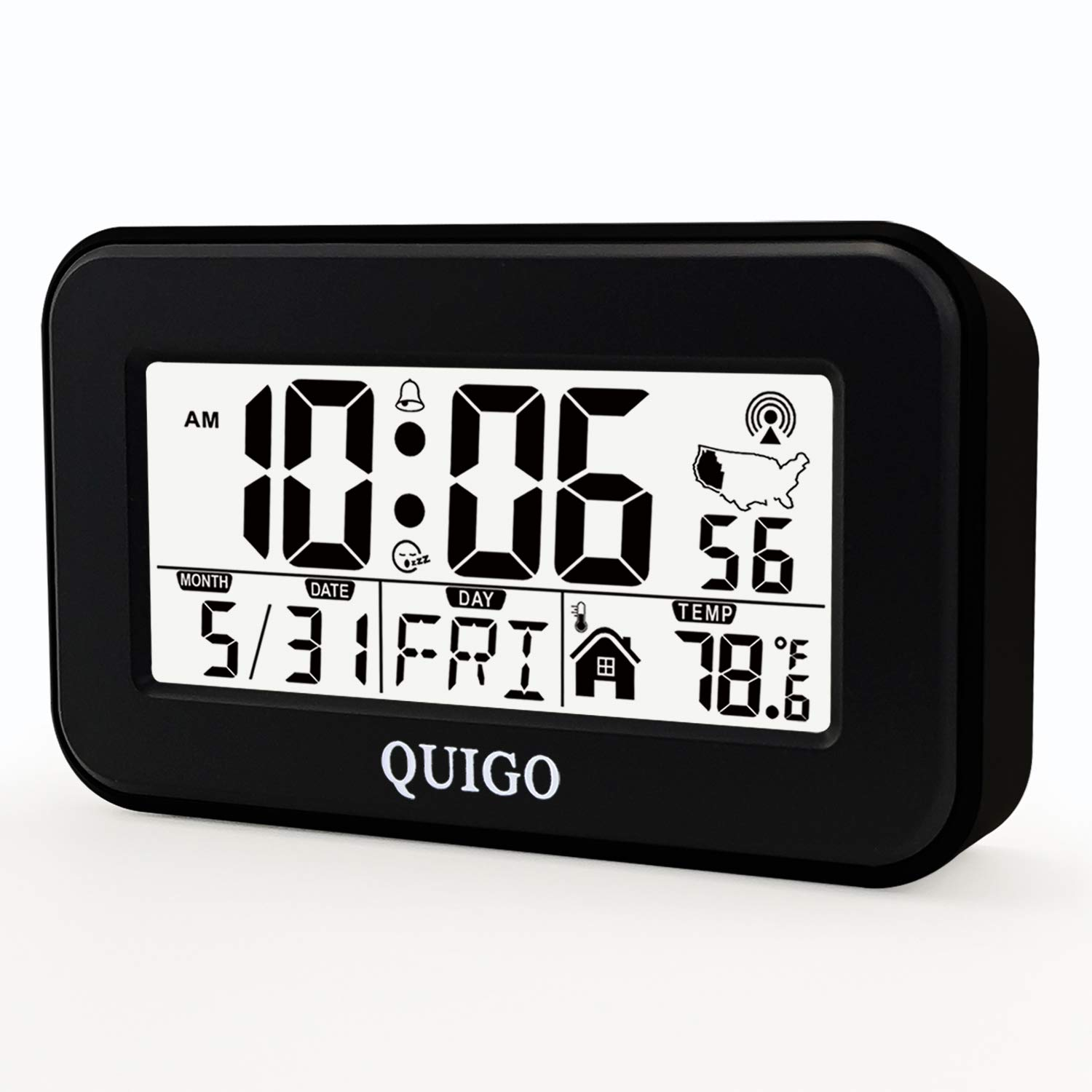 QUIGO Digital Alarm Clock Atomic