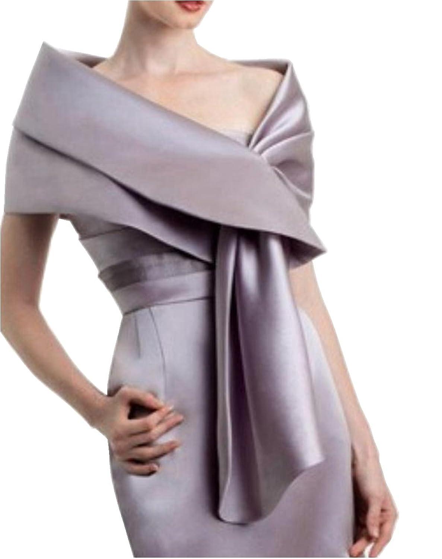 Amazon.com: Meet Edge Women\'s Satin Shawl Wrap For Evening/Wedding ...