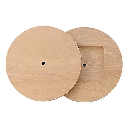 手作り用 時計盤 桂板 丸型 φ215x14mm