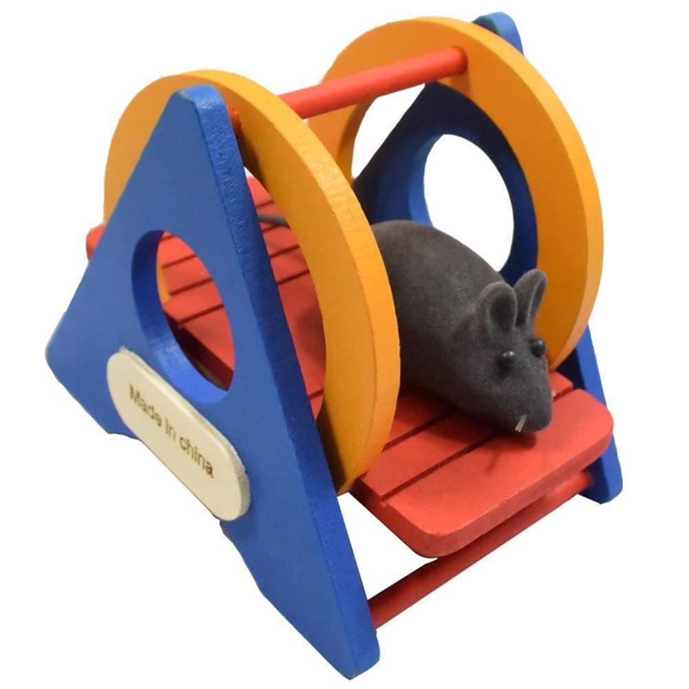Toruiwa Balançoire à Bascule Coloré en Bois Jouet pour Hamster