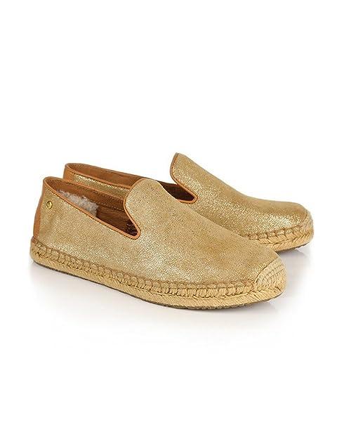 Spotlly Alpargatas para mujer Dorado dorado: Amazon.es: Zapatos y complementos