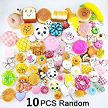 Squishy Toys Slow Rising Squishies 20 Pcs Random Packages – Kawaii Giant Food Squishys - Jumbo Medium Mini Soft Panda Bread Buns Doughnuts – Phone Charms Key Chain Strap