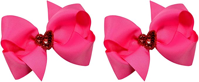 Valentines Hearts Hair bow