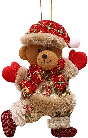 Noël Decoration Sapin Rouge Blanc DAY8 Noël Ornement Suspendu Ours Noël  Decoration Exterieur Interieur Bricolage Déco Noël Sapin de Noël