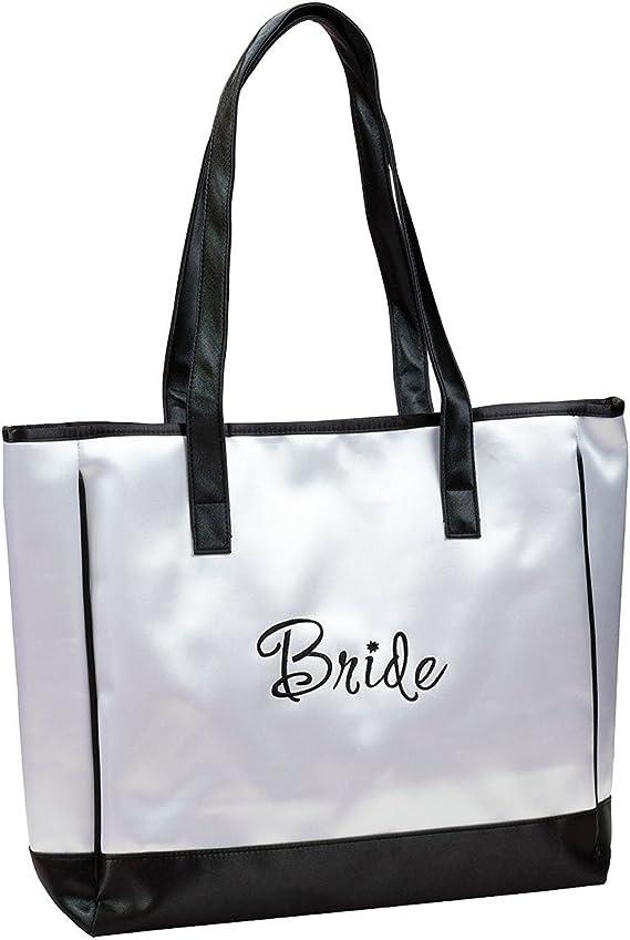 Apparel Accessories Lillian Rose\u2122 Large White /& Gold Bridesmaid Tote Bag 1 Piece