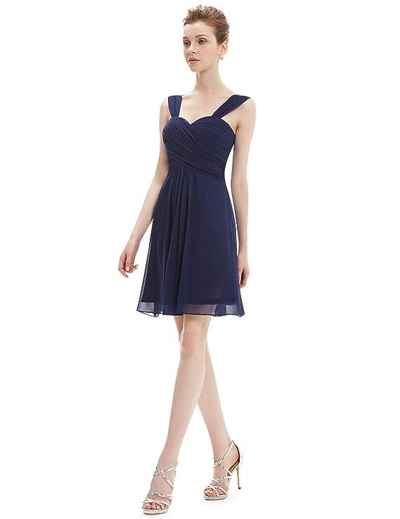 Ever volantes para niña y diseño de Luca Johnson UK de chifón de rodilla-longitud de la acolchado para vestidos de vestido de dama de honor de cóctel 03539: ...