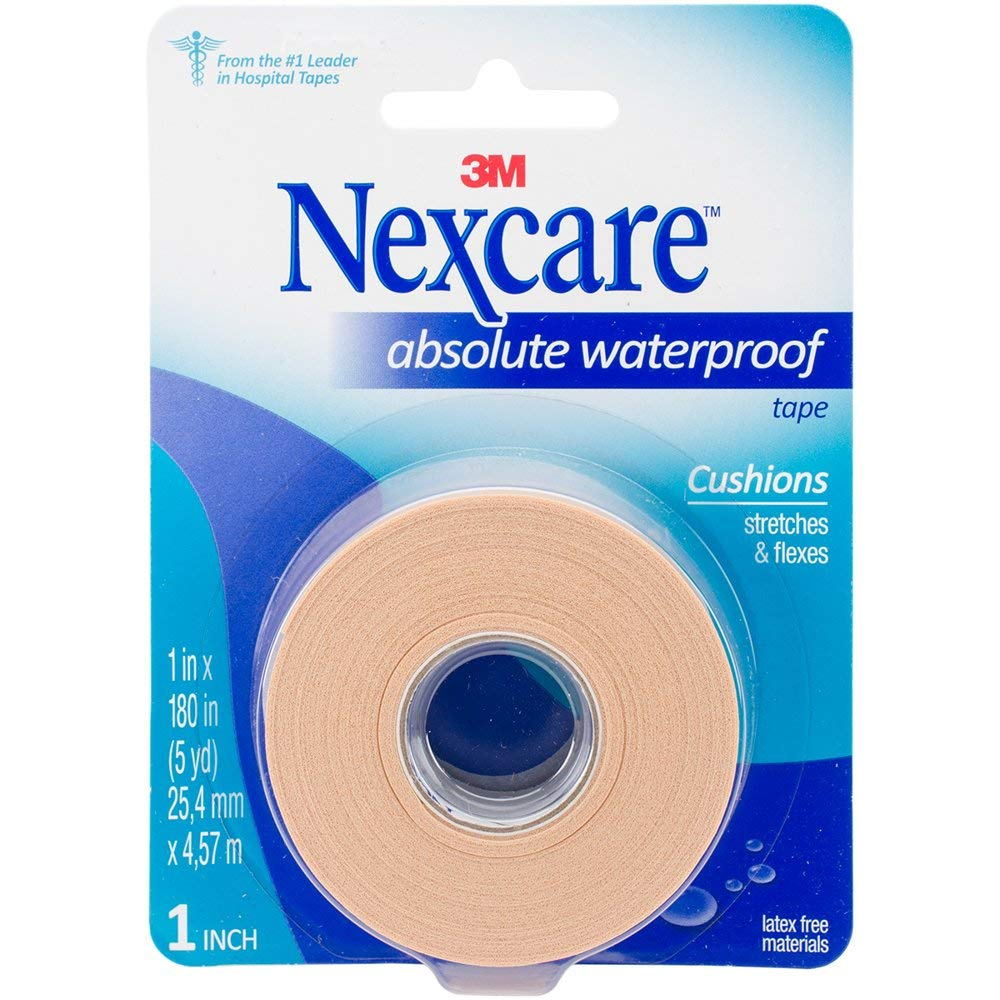 Nexcare Absolute Waterproof Tape 1 Inch X 5 Yards, 1ea (Pack of 8) by Nexcare