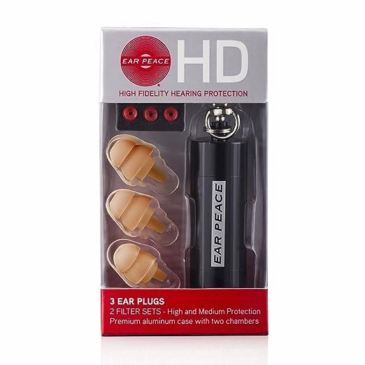 15 opinioni per EarPeace HD Protezione Dell'Udito 3 Tappi Orecchie / Scatola, Marrone
