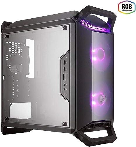 Cooler Master MasterBox MCB-Q300P-KANN-S02 – Caja de Ordenador Mini Torre RGB mATX para Gaming Portátil con Vista Total Panel Lateral, Cableado Ordenado y Múltiples Opciones Enfriamiento, Color Negro: Amazon.es: Informática