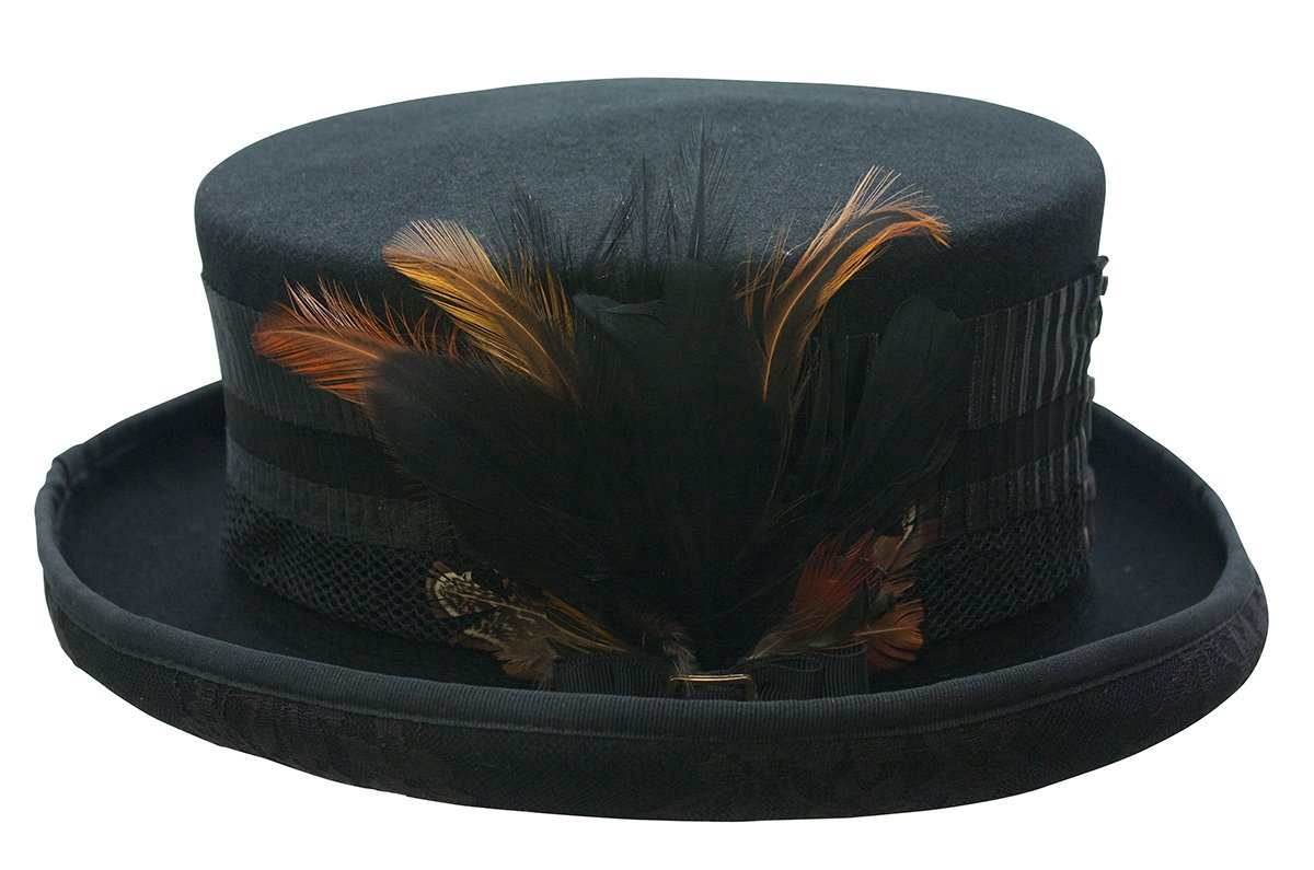 Cov-ver Hats, London Lace Steampunk Victorian Top Hat