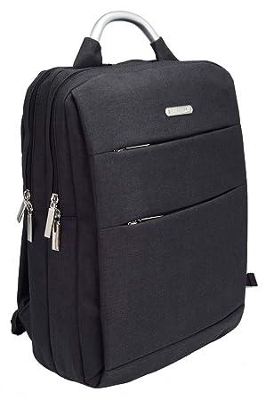 David Jones - Mochila Portátil 17 Pulgadas Hombre - Laptop Backpack Resistente al Agua - Daypack