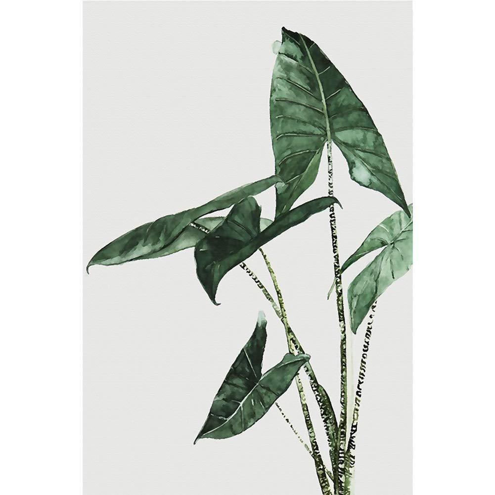 HVdsyf Moderne Leinwand Gem/älde Gr/üne Pflanze Blatt Poster Wandkunst Bilder Ungerahmt B/üro Wohnzimmer Dekoration 21x30cm 1#