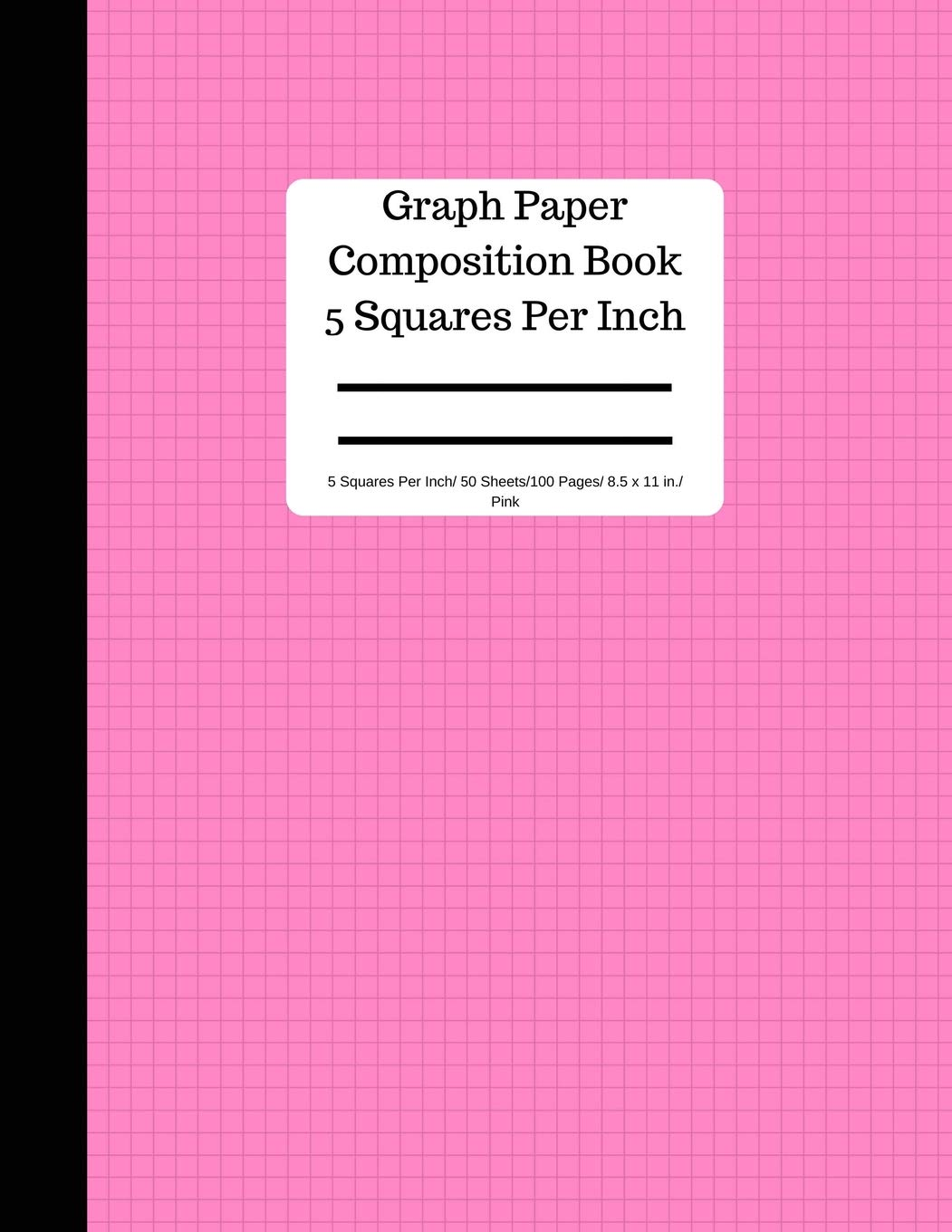 graphic regarding Blank 100 Square Grid Printable named Graph Paper Structure E-book 5 Sq. For every Inch/ 50 Sheets