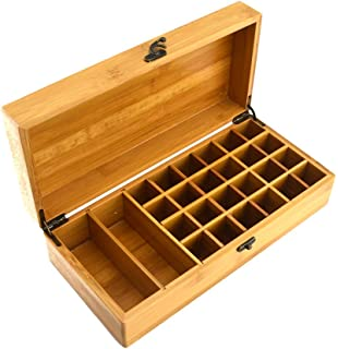 Essential Oil Wooden Storage Box 24 Compartment By Dreaming Earth