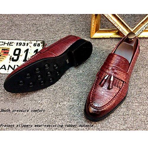 428d94210183 「OM」メンズ ローファー カジュアル ビジネスシューズ スリッポン レザー 革靴 ワークブーツ ローカット タッセル クロコダイル