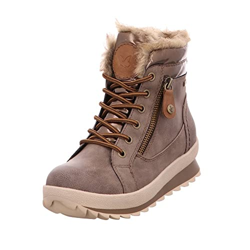 4b1fc307797 Caprice Footwear Lottie Faux Fur Lined Lace Up Boot, Brown, 6 (39 ...