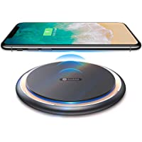 Andobil Boost USB-C Qi Certified Alloy Cooling 15W Fast Wireless Charger Compatible with iPhone X/Xs Max/Xs/Xr/8/8+ Samsung Galaxy S10/S10+/S10e/S9/S9+/S8/S7 LG V30/V40/G7