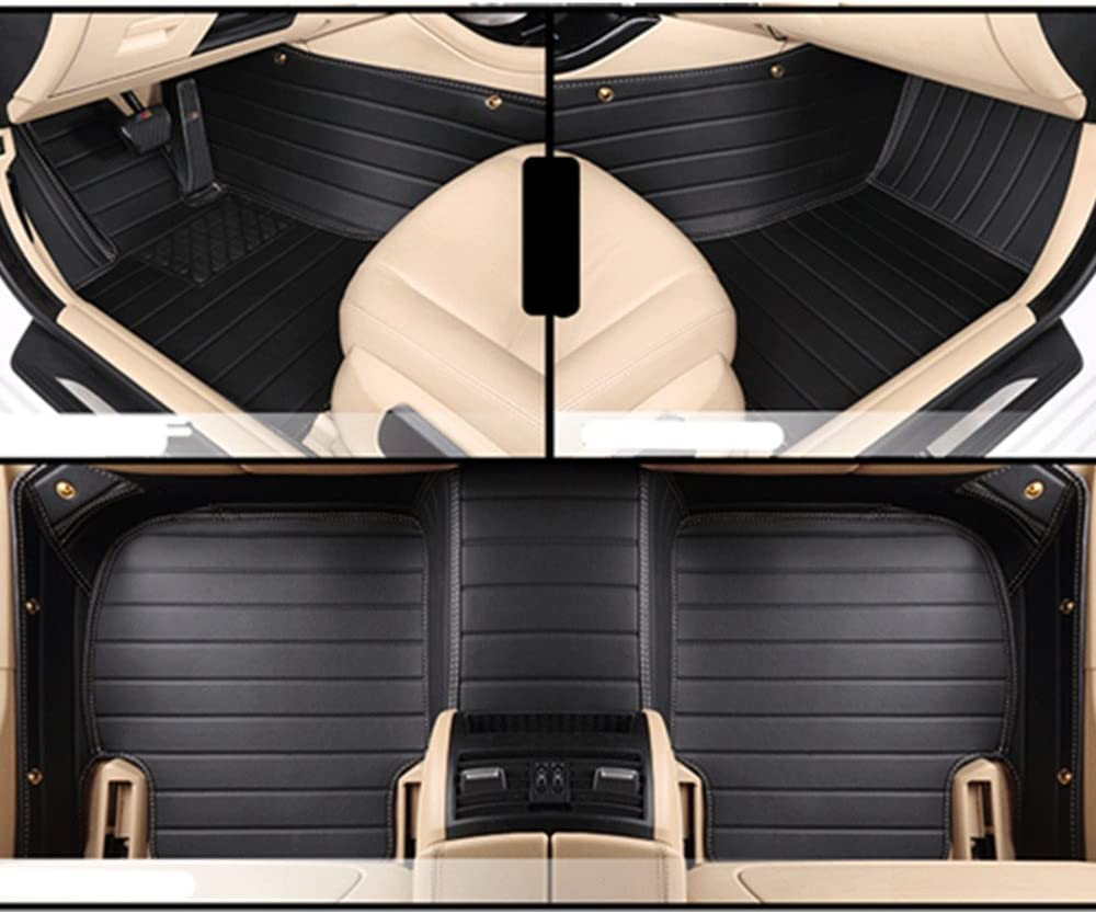 TuxMat Custom Car Floor Mats for Mercedes-Benz GLK 2010-2015 Models Waterproof The Ultimate Winter Mats Largest Coverage Laser Measured Full Set - Black All Weather