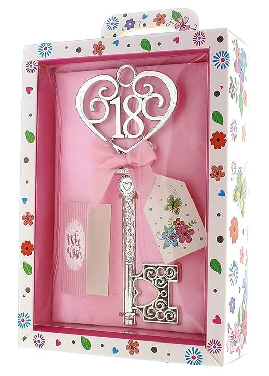 Tulip Studio - Llave de Recuerdo para Mujer de 18 años de Plata y Caja de presentación Brillante – Regalo de cumpleaños 18
