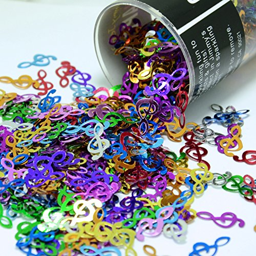 Confetti Music Clef Note Multicolors - Retail Pack #9068 - Free Ship ()