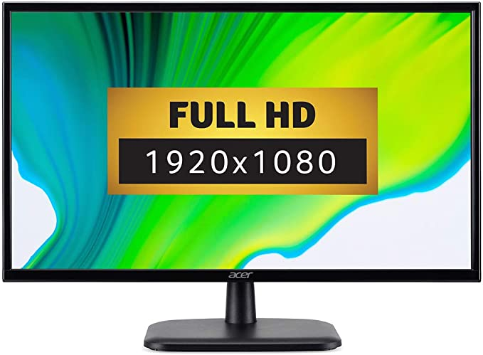 Acer EK240YAbi 23.8 inch FHD Monitor (IPS Panel, 60Hz, 5ms, HDMI, VGI, Black)