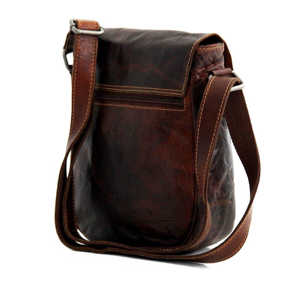 Jack Georges Voyager Horseshoe Crossbody Bag, Leather Shoulder Bag in Brown by Jack Georges (Image #8)