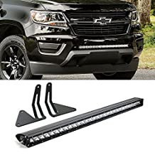 "iJDMTOY 30"" 150W High Power CREE LED Light Bar with Hidden Lower Bumper Mounting Brackets and On/Off Switch Wiring Kit For 2015-up GMC Canyon or Chevrolet Colorado"