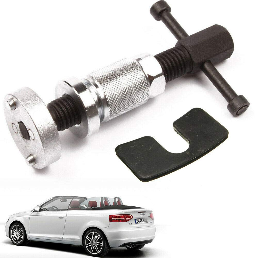 MONIPA Car Brake Pad Spreader, Car Repair Tool, Vehicle Disc Brake Piston Spreader Separator Right Handed Thread Metal Brake Piston Rewind Repairing Tool w/Reaction Plate Fit for Audi & BMW 2016
