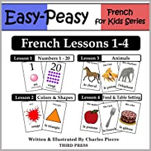 French Lessons 1-4: Numbers, Colors/Shapes, Animals & Food