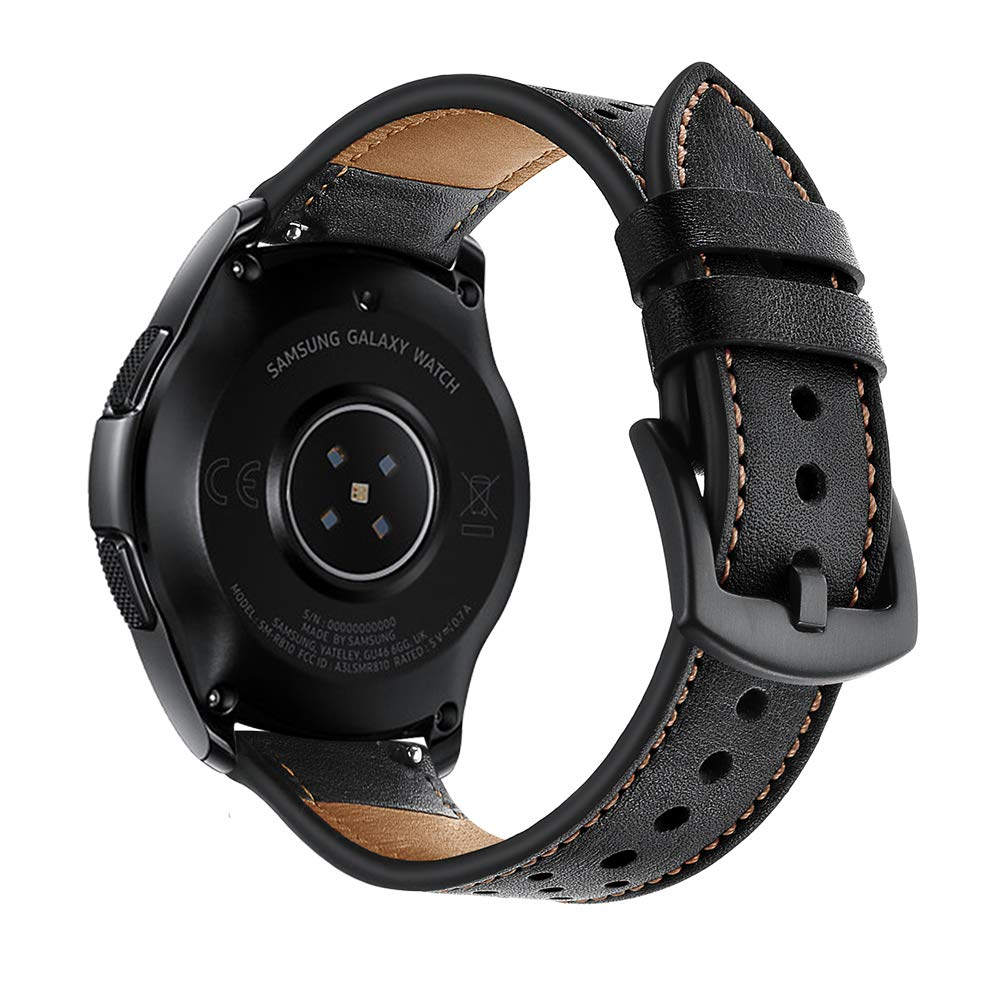 OXWALLEN Quick Release Leather Watch Band Top Grain Leather Watch Strap - Choice of Width 20mm, 22mm Watch Band for Men and Women