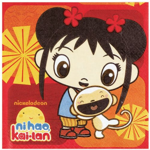 Luncheon Napkins | Ni Hao Kai Lan Collection | Party Accessory]()