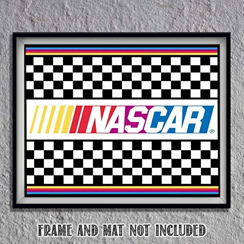 Nascar Victory Lane- Winners Circle- Art Poster Print-10 x 8