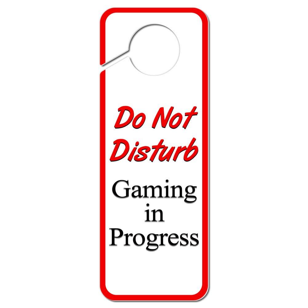 Amazon.com: Do Not Disturb Gaming in Progress Plastic Door Knob ...