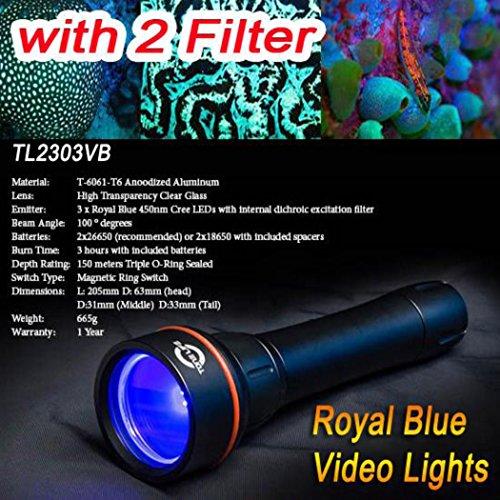 Tonelife Fluoro-Diving Fluo Night Dive Lights Underwater ...